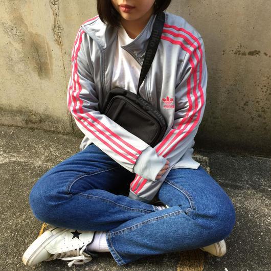Adidas gray pink logo jergey