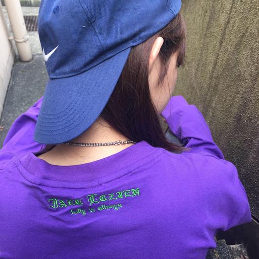 back logo long sleeve T(purple)
