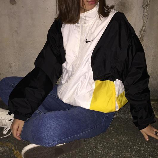 Nike black×yellow nylon jacket