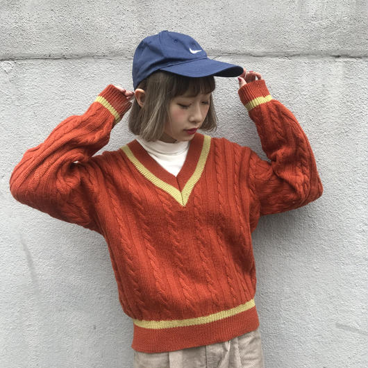 Two&half orange knit