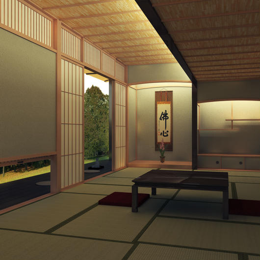 Japanese style room for Sketchup & SUpodium