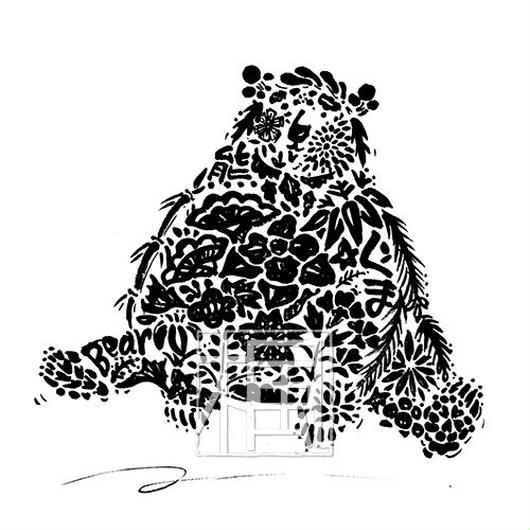 Bear クマの墨絵
