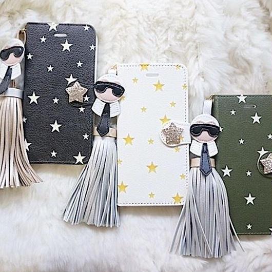 手帳型スマホケース TwinkleTwinkle×カールおじさん 普通サイズiPhone/Android S/M