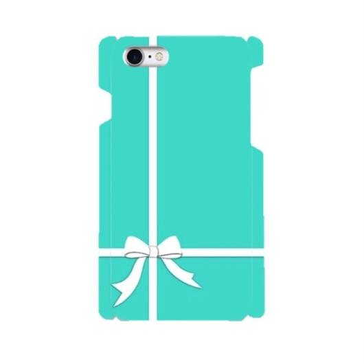 【NEW】手帳型スマホケース AICA-74 エレガントブルー クロスリボン 大きいサイズiPhone/Android L