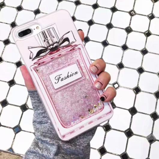 【入荷済み】香水瓶&アイスクリーム流砂ラメ iphoneケース