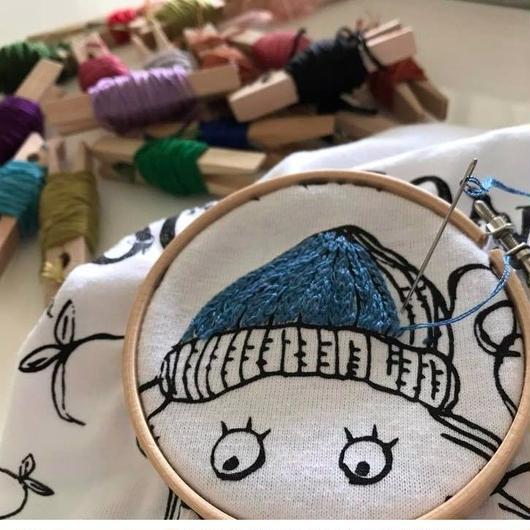 【手刺繍オプション】MONSTER TEEに刺繍