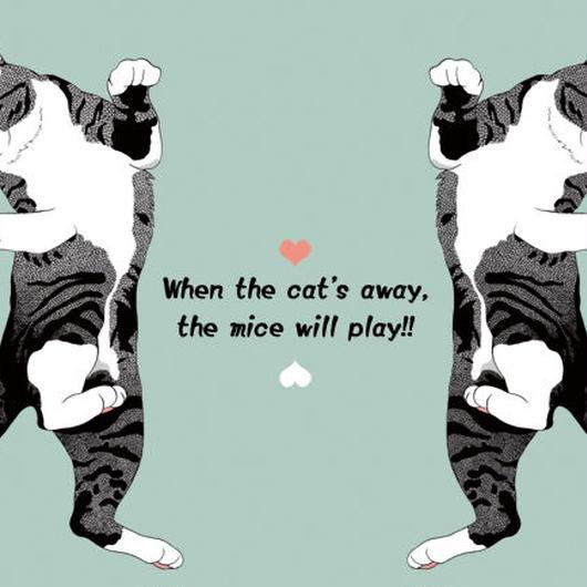 猫のイラスト・ポストカード2種セット①