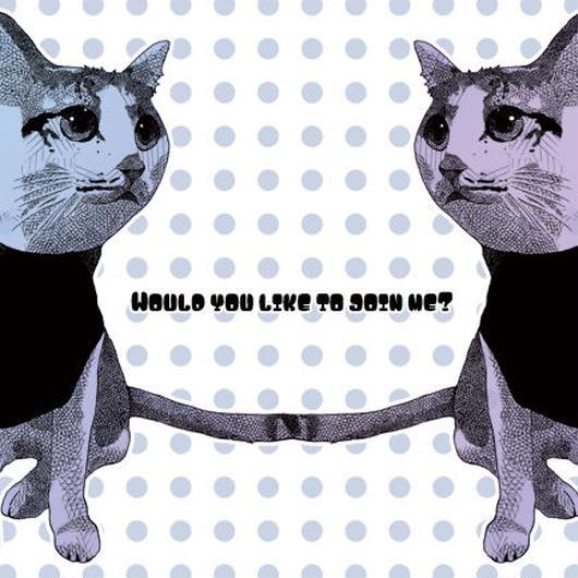 茶白猫のポストカード2枚セット  のコピー