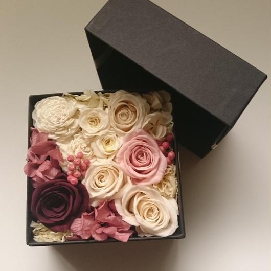 flower box ホワイト×ピンク