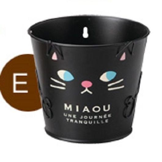 ブラック・キャット・ブリキ植木鉢(穴あり 3号鉢用)【送料無料】