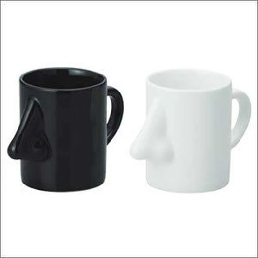 高い鼻のハンサム・マグカップ(陶磁器製)☆眼鏡も掛けられます【送料無料】