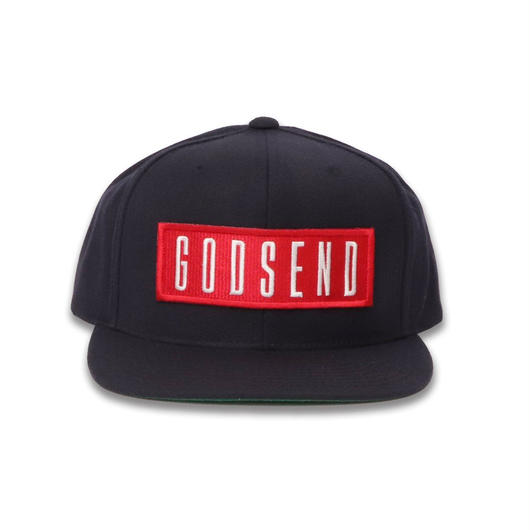 6PANEL  BOX  LOGO  COTTON  CAP  NAVY