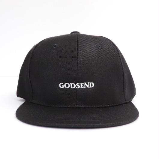 5パネル   GODSENDロゴ刺繍  CAP  BK