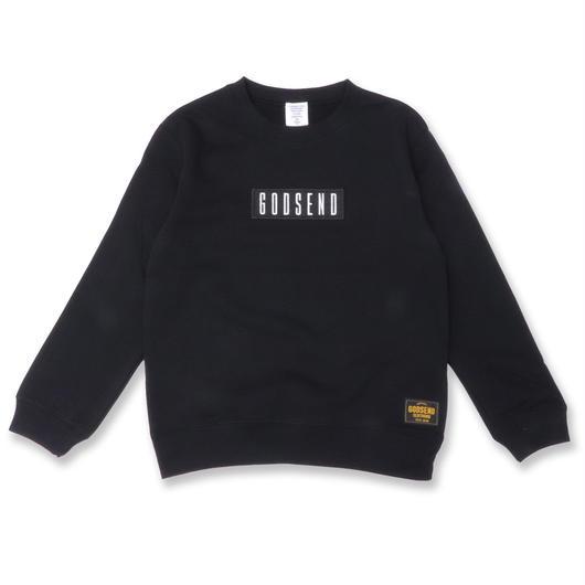 BOX  LOGO  C/N  SWEAT  SHIRT ボックスロゴ スウェットシャツ  BLACK