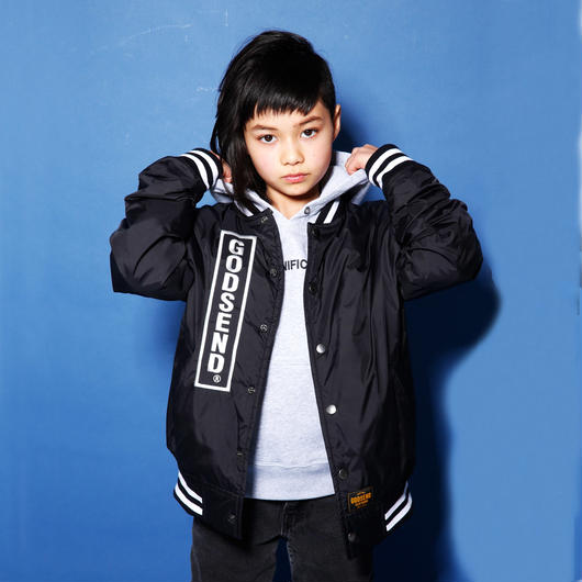 FOREVER  YOUTH  VARSITY  JACKET  FOEVER  YOUTH スタジャン  BLACK