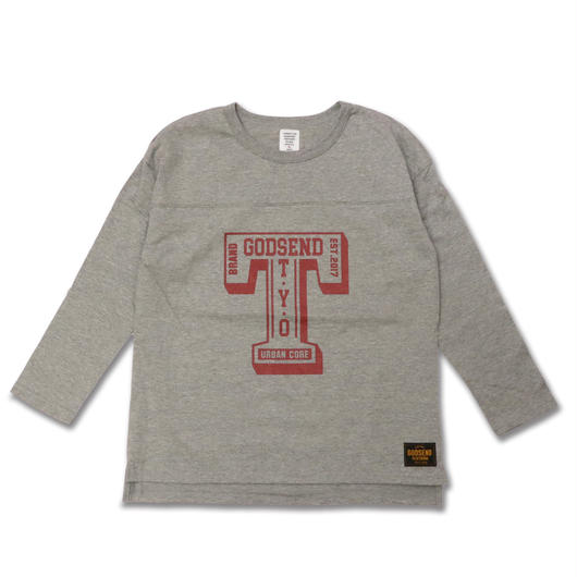 T- LOGO  L/S TEE Tロゴ  ロンT  GRAY