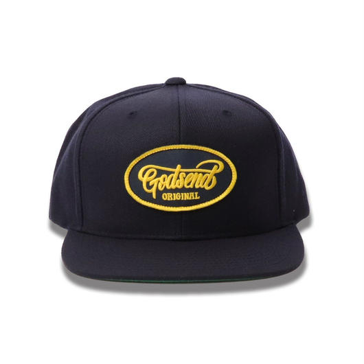 6PANEL  OVAL  LOGO  COTTON  CAP  NAVY