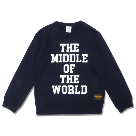 MIDDLE  WORLD  C/N  SWEAT  SHIRT ミドルワールド  スウェットシャツ  NAVY