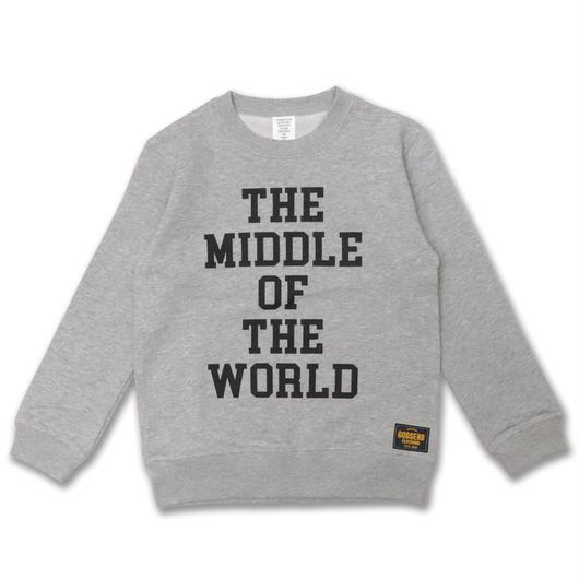 MIDDLE  WORLD  C/N  SWEAT  SHIRT ミドルワールド  スウェットシャツ  GRAY