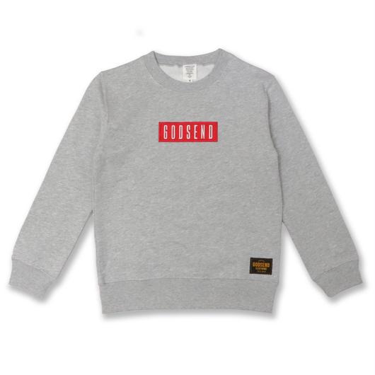 BOX  LOGO  C/N  SWEAT  SHIRT ボックスロゴ スウェットシャツ  GRAY