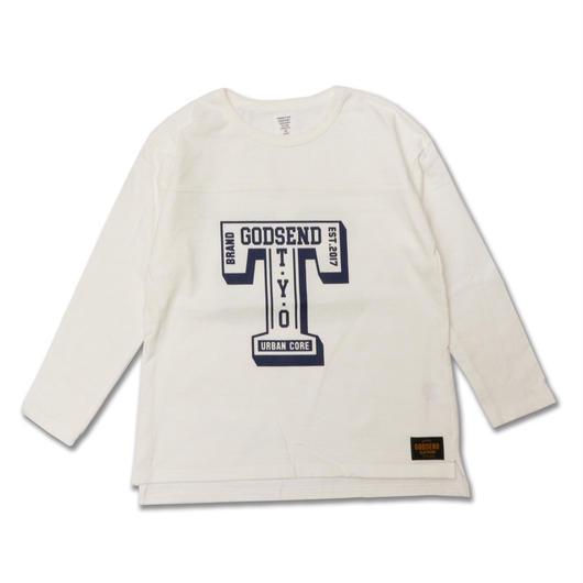 T- LOGO  L/S TEE Tロゴ  ロンT  WHITE