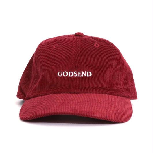 6パネル  コーデュロイ  GODSENDロゴ刺繍  CAP  BUR