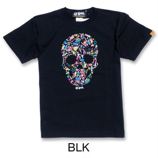 フットボールスカル Tシャツ(G792-622)
