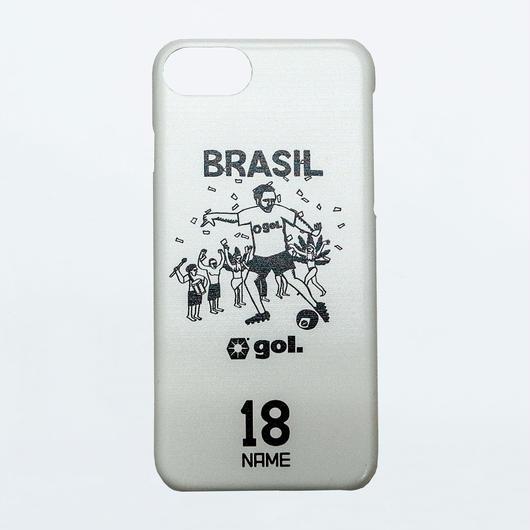 <BRASIL>セミオーダースマホケース WHT(ハードタイプ)(G886-557)