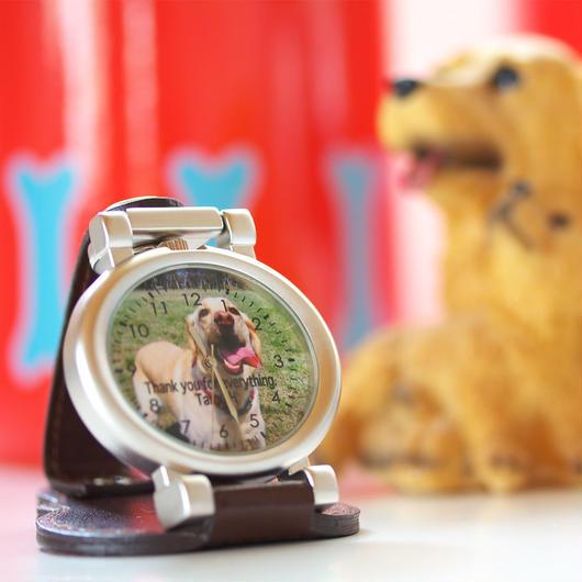 写真で作るオーダーメイドウォッチ スタンドオーバル時計