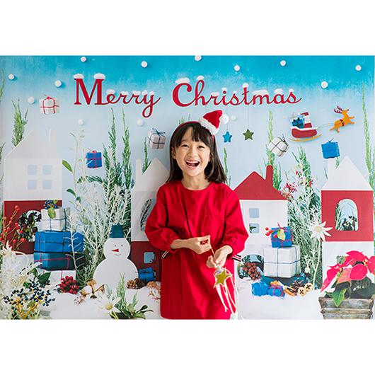 ◆数量&期間限定 おうち写真館+S Snowman's town Lサイズ(縦1030 × 横1456 mm)