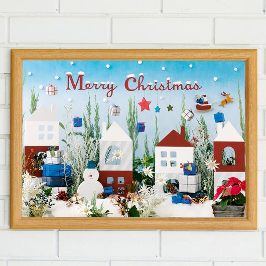 ★数量&期間限定 クリスマスポスター  Tiny Snowman's town