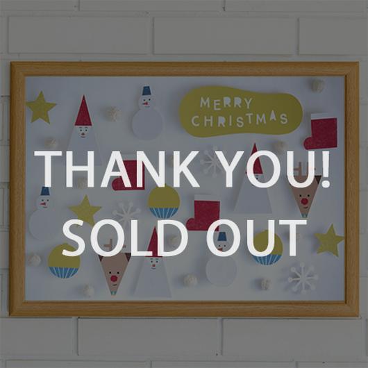 完売 ★数量&期間限定  クリスマスポスター  Tiny Santa&Friends WHITE