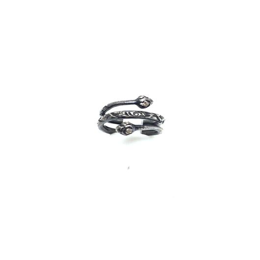 gunda<ガンダ >DUCT RING/w DIAMOND[ダクト リング/ w ダイアモンド]