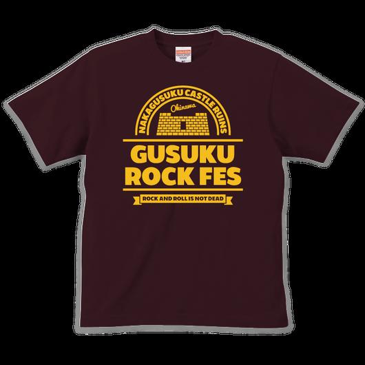 GUSUKU ROCK FES  TEE(A) / BURGANDY
