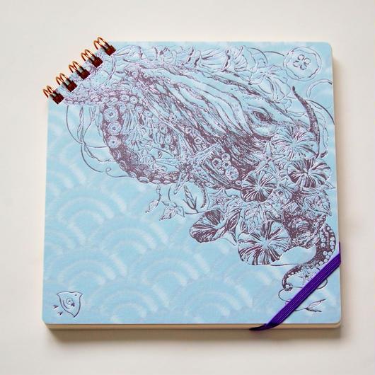 『 夏の彩 』 正方形ななめリングノート - Yuko Tsuji Artwork 第5弾 -