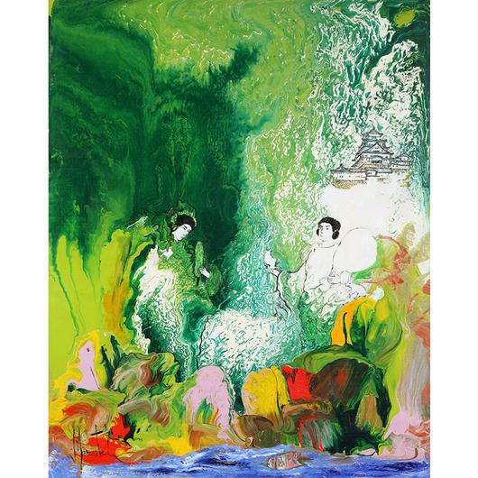 射楯大神と兵主大神、大自然の愛を広げる (ジクレー版画)