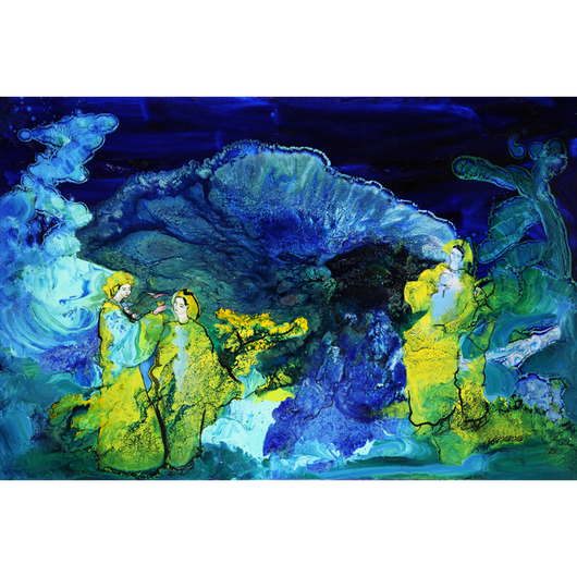天照大御神を取り巻く天つ神たち (ジクレー版画)