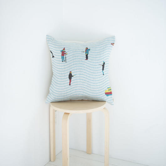 (no pattern backside) snip snap LAPLAND cushion cover | fishing 裏面無地