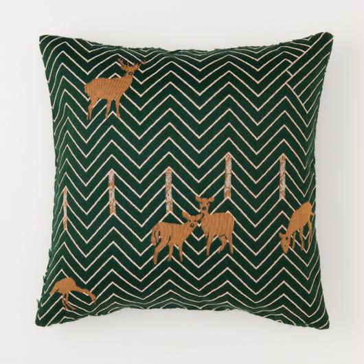 snip snap SATOYAMA cushion cover | deer green