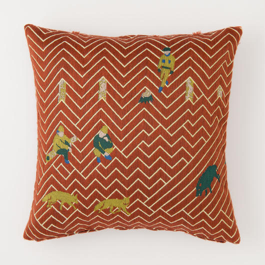 snip snap SATOYAMA cushion cover | fox red