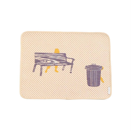 hide and seek PEOPLE place mat | bench