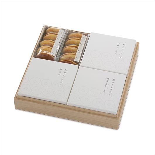 桐箱 詰合せ(うんどら+ラスク3種)