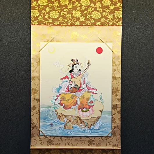 Benzaiten hanging scroll shikishi paper