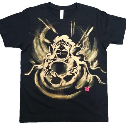 T-shirts men Hearts of Kannon black Japanese sumi-e Art