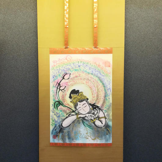 Hearts of Kannon hanging scroll