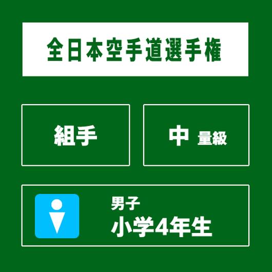 【全日本空手道選手権】 組手 男子 小学4年生 中量級