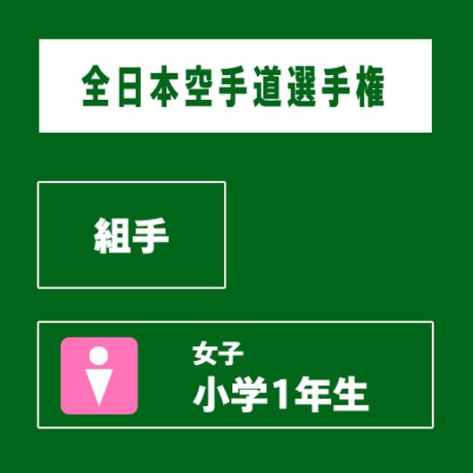 【全日本空手道選手権】 組手 女子 小学1年生