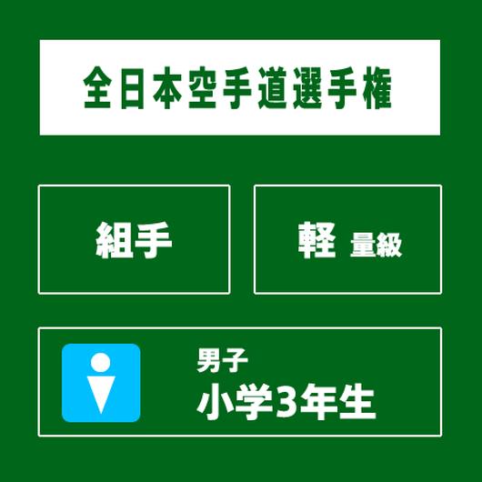 【全日本空手道選手権】 組手 男子 小学3年生 軽量級