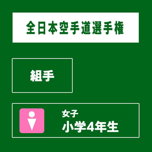 【全日本空手道選手権】 組手 女子 小学4年生