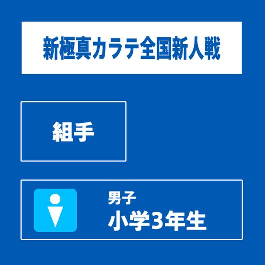 【新極真カラテ全国新人戦 】 組手 男子 小学3年生